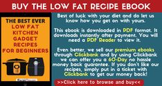 Buy The Low Fat Recipe Ebook #lowfatrecipeebook #bestlowfatrecipeebook