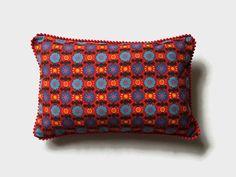 Scandi Style Boudoir throw pillow Retro 1960s Scandi Red