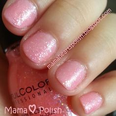 Sinful Colors- Pinky Glitter http://mamaheartspolish.blogspot.com/2014/05/sinful-colors-pinky-glitter-swatch.html