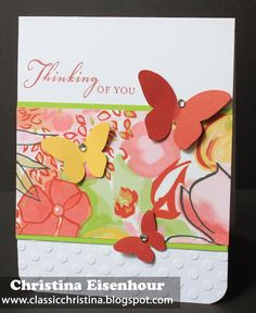 Classic Christina: Brushed paper pack and Seaside Greetings stamp set.