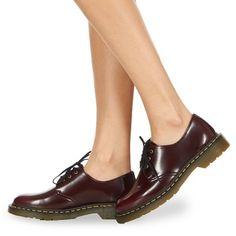 Shoes Women Derby Shoes Dr Martens VEGAN 1461 Red / Cherry