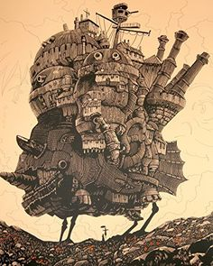 Poster the world Howl Moving Castle Poster S Ghibli Studio Calcifer Figure Miyazaki Cominica Hayao Wall Art 16 Inches Poster the world6