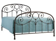 Grafton King Bed @ Raymour and Flanigan King Beds, Queen Beds, Bedroom Furniture, Bedroom Decor, Bedroom Ideas, Steel Furniture, Furniture Ideas, Wrought Iron Bed Frames, Guest Bed