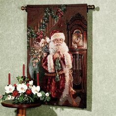 Not a Creature Stirring Santa Wall Tapestry