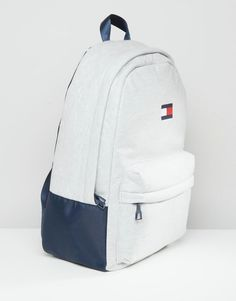 Image 2 of Tommy Hilfiger Exclusive Flag Backpack in Grey