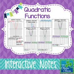 Graphing Quadratic Functions Worksheet for TI Calculators ...