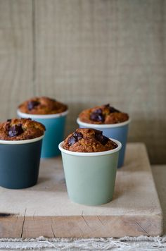 Flo's Express Cake: These adorable banana chocolate chip cakes baked in paper cups(!!!) don't have a recipe attached, but this same post has a good one for a gluten-free persimmon cake.