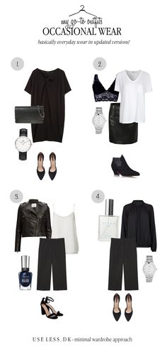 Occasional wear: mini-capsule guide