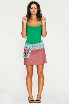 BOOM SHANKAR - Rosanna Reversible Short Skirt