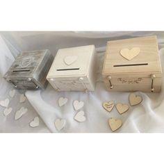 Κουτί ευχών σε τρεις αποχρώσεις με 50 καρδούλες για να γράψουν οι καλεσμένοι τις ευχές τους. Diy Wedding, Decorative Boxes, Gift Wrapping, Wallet, Gifts, Home Decor, Gift Wrapping Paper, Presents, Decoration Home