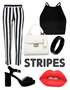 """Classic black and white zebra stripes"" by ninixglasses ❤ liked on Polyvore featuring River Island, Boohoo, Olivia Miller, Miu Miu, Lime Crime and West Coast Jewelry"
