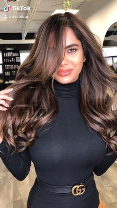 Hair Color For Black Hair, Cool Hair Color, Brown Hair Colors, Hair Colour Brown Highlights, Brown Hair Inspo, Brown Hair Tones, Hair Color For Women, Brown Hair Balayage, Hair Color Balayage