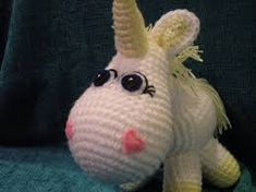 Ravelry: Unicorn pattern by Cecilia - Siempre Josefina --It's the unicorn from Despicable Me! Amigurumi Patterns, Amigurumi Doll, Crochet Ideas, Crochet Projects, Sewing Projects, Stitch Crochet, Winnie The Pooh Friends, Unicorn Pattern, Amigurumi