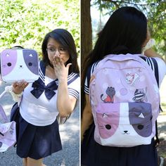 "Aphmau on Twitter: ""Mystreet Neko~Themed backpack and lunchbox! SUPER CUTE CHARACTER CATS UGH! Available…"