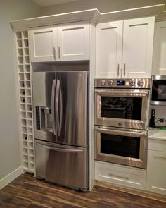Built in wine rack next to fridge. We won't put in a