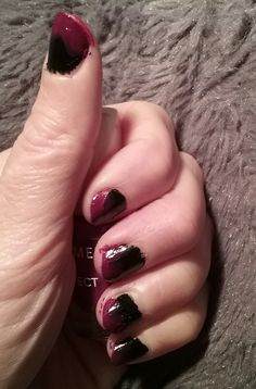 NAILS Colour. First Black now Black&Red. NICE. Smile...