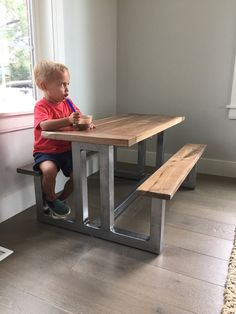 Reclaimed Wood Child's Table