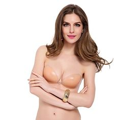 bd327f3c6ca09 Kissbobo Women s 3D Nubra Silicone Push-Up Bra with Self Adhesive Wing(C  Cup)