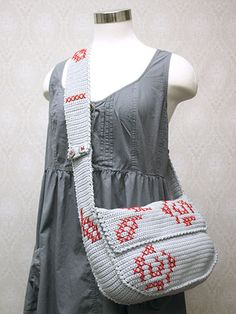 Rose Messenger Bag (709NC.PDF already downloaded) Free Crochet Pattern