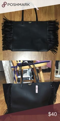 Victoria Secret Large Fringe Tote Brand new never been used with tags Victoria's Secret Bags Totes