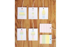 Printable Gift Tags - Pastel by Clementine Creative