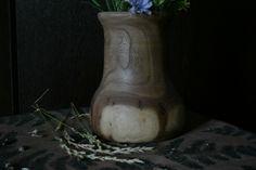 Декоративная ваза для сухоцветов. Дерево вяз. Decorative vase for dried flowers. Elm Tree.