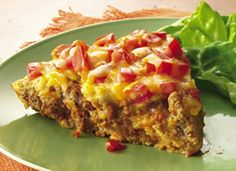 Impossibly Easy Taco Pie - No taco shells are needed for enjoying the great taco flavor of this easy main-dish pie