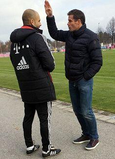 Former Liverpool defender Carragher and Guardiola discuss a few football matters