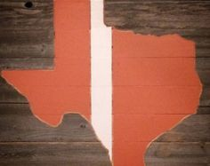 "Texas, Burnt Orange and White, (28"" X 20""), Rustic Reclaimed, Man Cave, Home Decor - Edit Listing - Etsy"