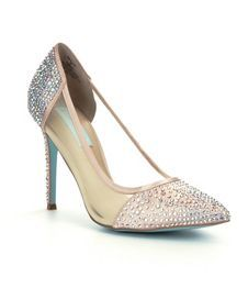 Blue by Betsey Johnson Elise Jeweled Pointed-Toe Pumps @ Dillards