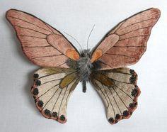Butterflies, textile art by Yumi Okita - ego-alterego.com