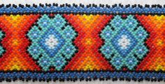 Huichol Peyote Beaded Bracelet LL by HuicholArte on Etsy