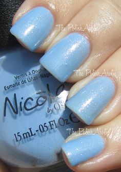 Nicole by OPI - Nothing Kim-pares to Blue. I just painted my toes this color last night!