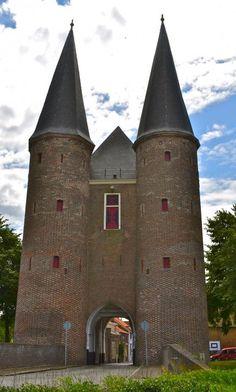 Middeleeuwse Stadspoort Van Zierikzee, Zeeland. The Netherlands