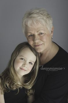 Beautiful Grandmother and Granddaughter pose!  Inspired by Sue Bryce