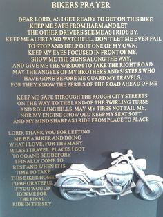 a biker's prayer | hope that you had a great Easter weekend and that you have a ...