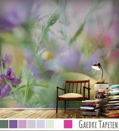 Blumen-Macros als Fototapete: Magic-Garden von Karl Knerr.