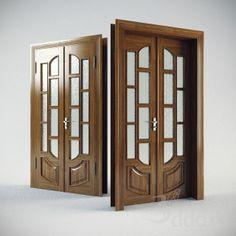 3DDD Model - Классическая дверь 3dsMax 2011 + obj (Vray) : Окна и двери : Файлы : 3D модели, уроки, текстуры, 3d max, Vray Wooden Front Door Design, Double Door Design, Wooden Front Doors, Pooja Room Door Design, Door Design Interior, Door Design Images, Wooden Sofa Designs, Grill Door Design, Front Doors With Windows