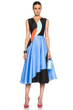 Roksanda Ilincic Lansdale Dress in Black Multi