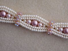Beaded Bracelet Tutorial, Pattern, Instructions, Jewelry, Swarovski Pearl…