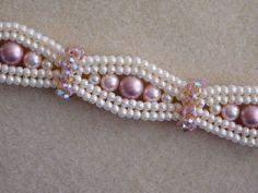 Beaded Bracelet Tutorial, Pattern, Instructions, Jewelry, Swarovski Pearl…