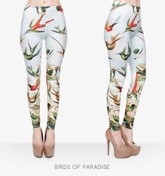f377523c6346b6 High Birds of 3D Pants Trousers Elasticity Leggings #clothes #designer  #fashionable #fashionaddict