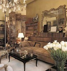 Coco Chanel's apartment. Upholstering furniture in beige or suede were unheard of at the time.  She was also apparently very selective who could sit on it.