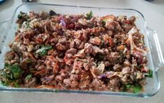 17 Day Diet Gal: Serious Goodness Casserole (C1) ground turkey salsa cole slaw and veggies