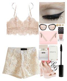 """Style #32"" by alliedaddysgirl ❤ liked on Polyvore featuring Miu Miu, Gucci, Kenzo, Bella Freud, Lord & Berry, Pink, lolita, nude, gucci and miumiu"