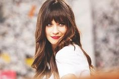 No one does full fringe quite like Zooey. Love it!