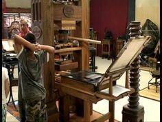 Video demonstration of the Gutenberg printing press