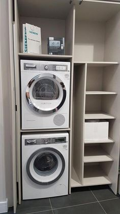 "Outstanding ""laundry room stackable washer and dryer"" detail is readily availabl. Outstanding ""laundry room stackable washer and dryer"" detail is readily availabl. Laundry Cupboard, Laundry Room Shelves, Laundry Room Layouts, Laundry Room Remodel, Laundry Closet, Laundry Room Organization, Laundry Room Design, Ikea Laundry, Basement Laundry"