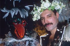 Freddie Mercury's birthday spectacular. Photographed by Richard Young/Rex Features