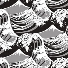 Frontier Wave Cole and Son Cole And Son Wallpaper, Of Wallpaper, Fabric Patterns, Sons, Art Photography, Waves, Textiles, Black And White, Artwork